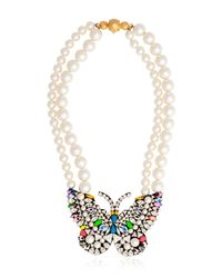 Shourouk | Multicolor Butterfly Necklace | Lyst