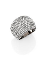 Michael Kors | Metallic Brilliance Statement Pave Dome Ring/Silvertone | Lyst