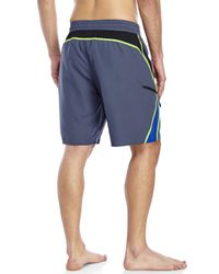 Adidas | Gray Tech Splice Volley Board Shorts for Men | Lyst