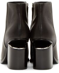 Alexander Wang | Black Notched Heel Gabi Ankle Boots | Lyst