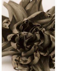 Erika Cavallini Semi Couture - Green Flower Pin Broach - Lyst
