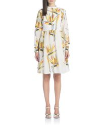 Fendi - White Bird Of Paradise Printed Dress - Lyst