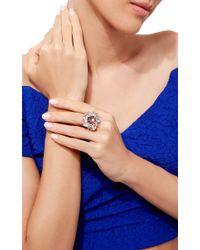 Bounkit   Metallic Blue Quartz And Amethyst Ring   Lyst
