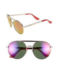 Isaac Mizrahi New York | Metallic 56mm Round Sunglasses | Lyst