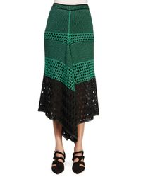 Proenza Schouler - Green Handkerchief-hem Midi Skirt - Lyst