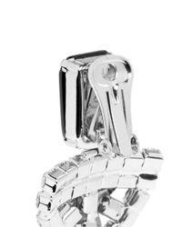 Iosselliani - Black Crystal Star Badge Earrings - Lyst