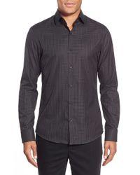 Michael Kors - Black 'jeremy' Slim Fit Gingham Sport Shirt for Men - Lyst