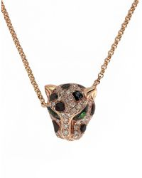 Effy | Pink Signature 14k Rose Gold Diamond And Tsavorite Pendant Necklace | Lyst