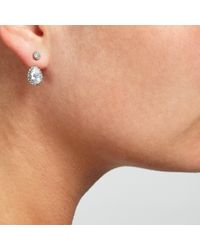 John Lewis | Metallic Glass Crystal Back Drop Stud Earrings | Lyst