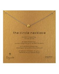 Dogeared - Metallic 'the Circle' Necklace - Lyst