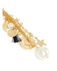 Venessa Arizaga - White 'stargazer' Star Charm Single Drop Earring - Lyst