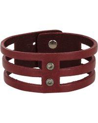 Isabel Marant - Purple Leather Parade 3 Row Bracelet - Lyst