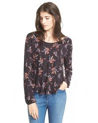 Free People | Black 'elsa' Open Back Jersey Top | Lyst