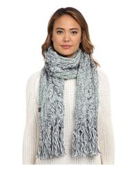 UGG - Blue Grand Meadow Novelty Cable Fringe Scarf - Lyst