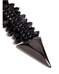 Iosselliani | Black Zircon Pavé Brass Arrow Clip Earrings | Lyst