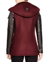 Mackage | Purple Odilia Leather Sleeve Coat | Lyst