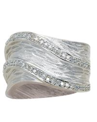Effy | Metallic Balissima Sterling Silver Textured Diamond Ring | Lyst