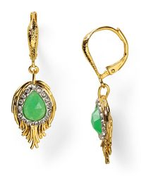 Alexis Bittar - Green Feathered Drop Earrings - Lyst