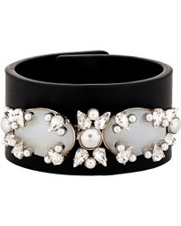 Givenchy | Black Embellished Bracelet-colorless | Lyst