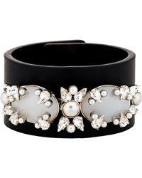 Givenchy - Black Embellished Bracelet-colorless - Lyst