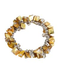 Kenneth Cole - Yellow Shell Chip Stretch Bracelet - Lyst