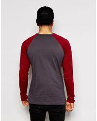 G-Star RAW - Red Long Sleeve Top Kaus Raglan Baseball Art Raw Print for Men - Lyst