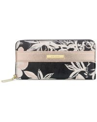 Anne Klein | Metallic Time To Indulge Zip Around Wallet | Lyst