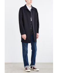 Stussy - Black Nylon Trench Coat for Men - Lyst