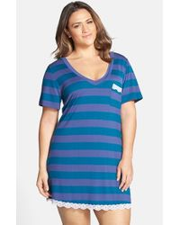 Honeydew Intimates | Blue 'all American' Lace Trim Sleep Shirt | Lyst