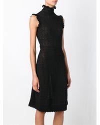 Alexander McQueen - Black Lace Knit Dress - Lyst