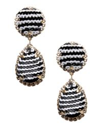 Shourouk | Black Earrings | Lyst
