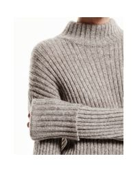 Theory | Gray Diantha Sweater In Caresse | Lyst
