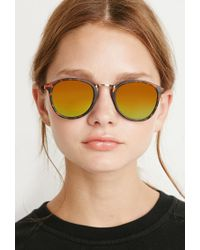 Forever 21 - Brown Mirrored Sunglasses - Lyst