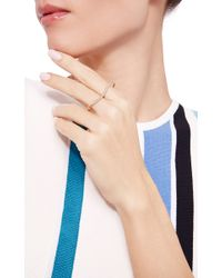 Lizzie Mandler - Metallic Pave Curve Double Finger Ring - Lyst