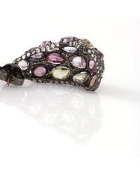 Arunashi - Purple Multicolor Sapphire Earrings - Lyst