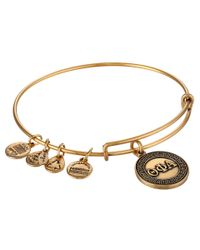 ALEX AND ANI - Metallic Theta Phi Alpha Charm Bangle - Lyst