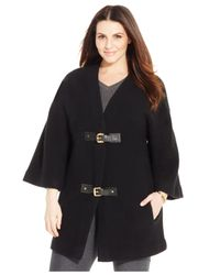 Michael Kors | Black Michael Plus Size Buckle-front Sweater | Lyst