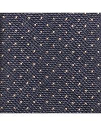 Calvin Klein - Blue Woven Spot Tie for Men - Lyst