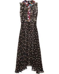 Duro Olowu   Black Ometa Printed Georgette Dress   Lyst