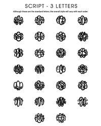 BaubleBar - Metallic Circle Script Triple Letter Monogram - Lyst