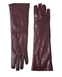 Ann Demeulemeester | Purple Nappa Leather Gloves | Lyst