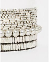 Pieces | Metallic Vimona Multipack Bracelet | Lyst