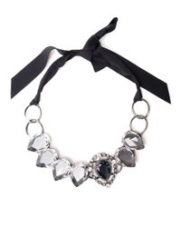 Lanvin - Black Cassiopee Crystal Necklace - Lyst
