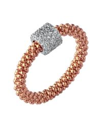 Links of London | Pink Star Dust Rose Gold Bead Ring | Lyst
