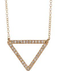 Ileana Makri - Metallic Diamond & Gold Triangle Pendant Necklace - Lyst