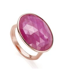 Monica Vinader - Purple Riva Precious Ruby Cocktail Ring - Lyst