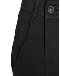 Rick Owens - Black Cotton Jersey Paneled Trousers - Lyst