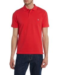 Original Penguin - Red Daddy Slim Fit Polo Shirt for Men - Lyst