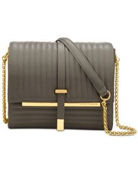 Vince Camuto | Gray Leila Quilted Shoulder Bag | Lyst