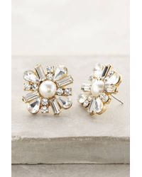 Anthropologie - White Salted Petal Posts - Lyst